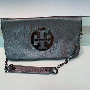 Tory Burch silver purse